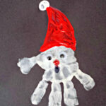 Handprint Santa Claus Craft For Kids
