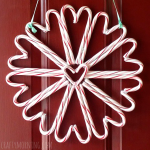 Candy Cane Wreath Craft For Christmas