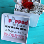 """He Popped The Question…"" Bridesmaid Ring Pop Idea + Free Printable"
