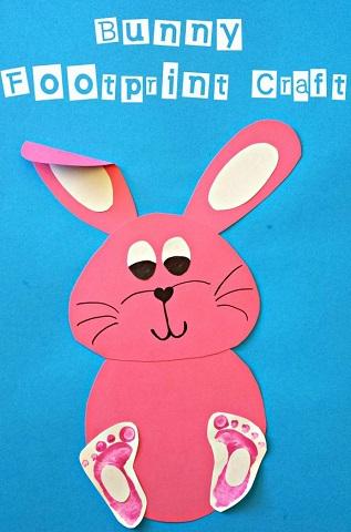 Bunny Footprint Craft For Kids