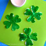 Cupcake Liner 4 Leaf Clover Craft for St. Patrick's Day