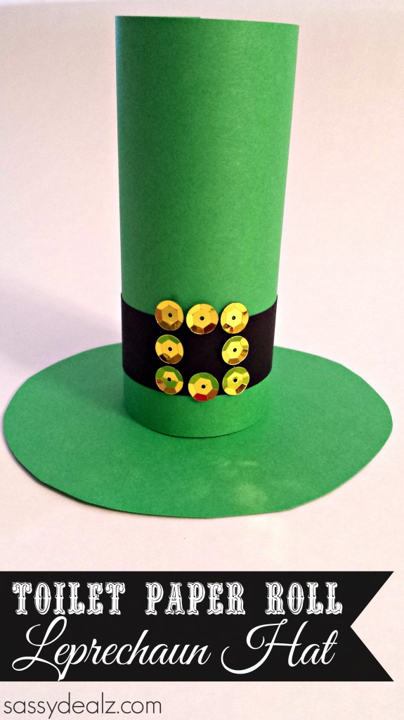 Leprechaun Hat Toilet Paper Roll Craft for St. Patrick's Day