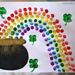 Fingerprint Rainbow Pot of Gold Craft For St. Patrick's Day