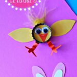 Bottle Cap Easter Crafts for Kids (Chick & Bunny)