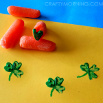Carrot Shamrock Stamping for St. Patrick's Day