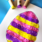 Wine Cork Easter Egg Stamping Craft for Kids