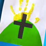 Easter Handprint Cross Craft for Kids