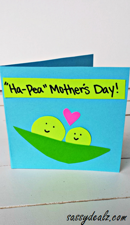"""""""Ha-Pea"""" Mother's Day Card for Kids to Make"""