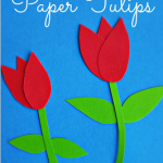 How to Make Paper Tulips – Easy Kids Craft