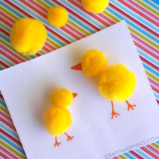 pom-pom-chick-easter-craft-for-kids