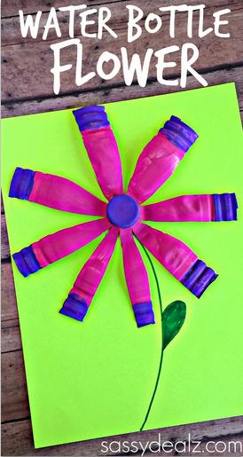 water-bottle-flower-craft-for-kids