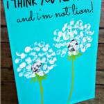 Fingerprint Dandelion Craft For Kids + Card Idea