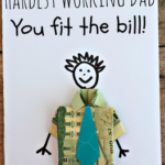 Dollar Bill Origami T-Shirt Father's Day Card