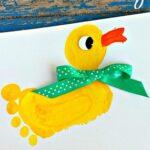 Footprint Duck Craft for Kids