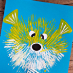 Kid's Puffer Fish Craft Using a Fork