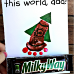 """You're Out of this World"" Milky Way/Footprint Rocket Card"