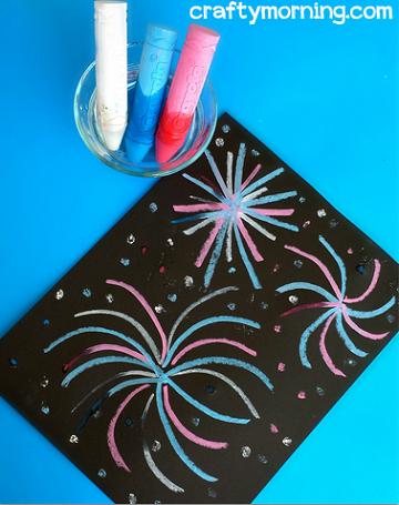 chalk-fireworks-craft-for-kids