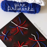 Yarn Fireworks Craft for Kids to Make