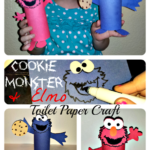 Cheap Elmo & Cookie Monster Toilet Paper Roll Crafts For Kids
