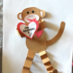 Valentine's Day Heart Monkey Craft For Kids