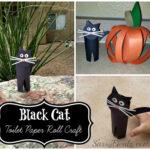 Easy Black Cat Toilet Paper Roll Craft For Kids