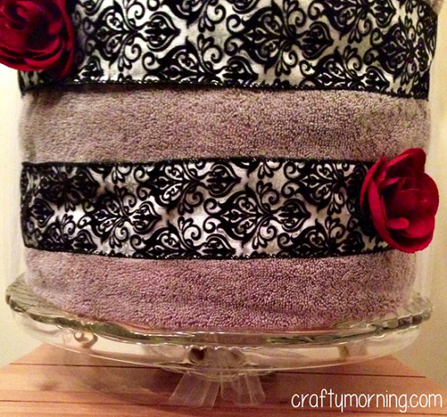 Diy Bridal Shower Towel Cake Gift Idea Crafty Morning