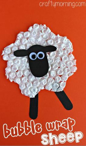 bubble-wrap-sheep-craft-for-kids