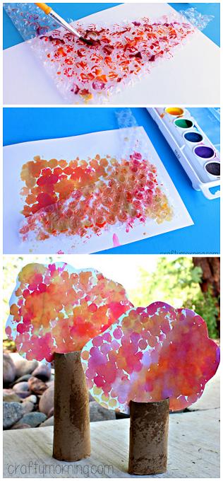 bubble-wrap-tree-craft
