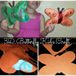 DIY: Cheap 3D Tissue Paper Butterfly Kid's Craft