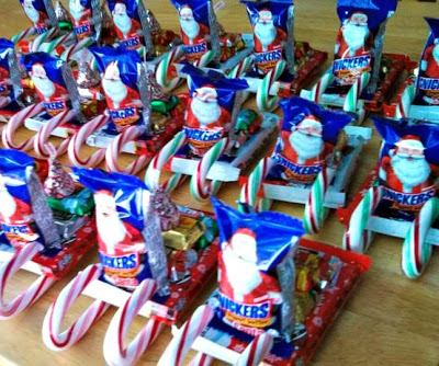 DIY Candy Santa Sleighs (Great Classroom Treats & More For Kids!)