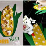 DIY: Easy Corn Craft For Kids Using Real Popcorn
