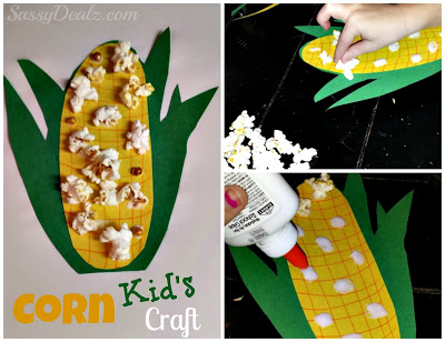 DIY: Easy Corn Craft For Kids Using Real Popcorn