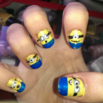 DIY Despicable Me Minion Nail Designs