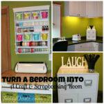 Transforming a Bedroom into a Craft & Scrapbooking Room