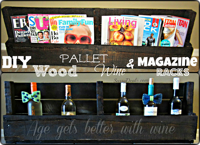 DIY: How To Make A Wine or Magazine Rack Out of a Wood Pallet (Step by Step Tutorial w/ Pictures)