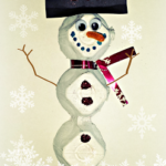 DIY Egg Carton Snowman Craft For Kids