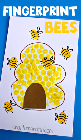 fingerprint-bee-craft-for-kids