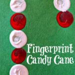 Easy Fingerprint Candy Cane Christmas Craft For Kids