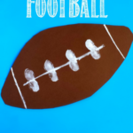 Easy Fingerprint Football Craft for Kids