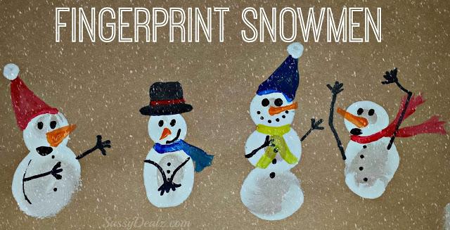 Diy Fingerprint Snowman Winter Craft For Kids Crafty Morning