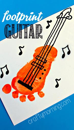 footprint-guitar-craft-for-kids