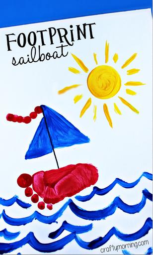 footprint-sailboat-craft-for-kids