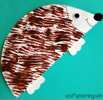 fork-hedgehog-craft-for-kids-