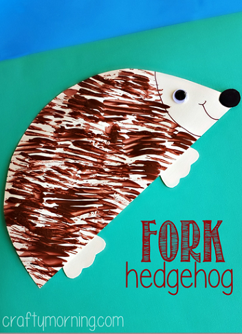 fork-hedgehog-craft-for-kids