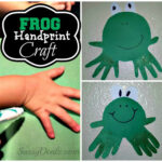 DIY: Cheap Handprint Frog Craft For Kids