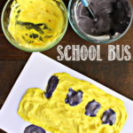 Puffy Paint School Bus Craft for Kids
