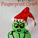 Grinch Fingerprint Craft For Kids at Christmas Time