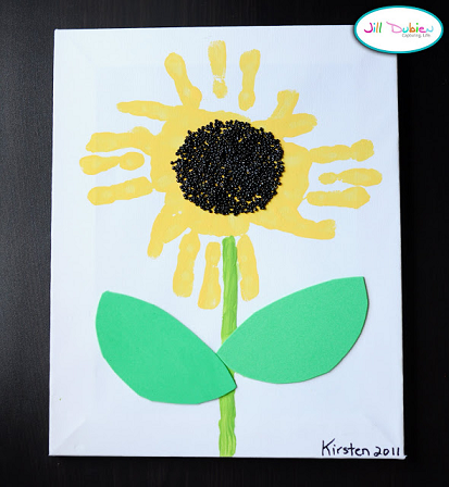 handprint-sunflower-craft-for-kids
