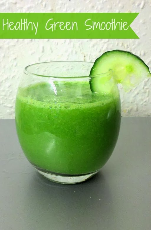 Healthy Green Smoothie Recipe {Cucumber & Lime}