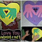 DIY: I Love You Handprint Craft For Kids (Great Keepsake Gift!)